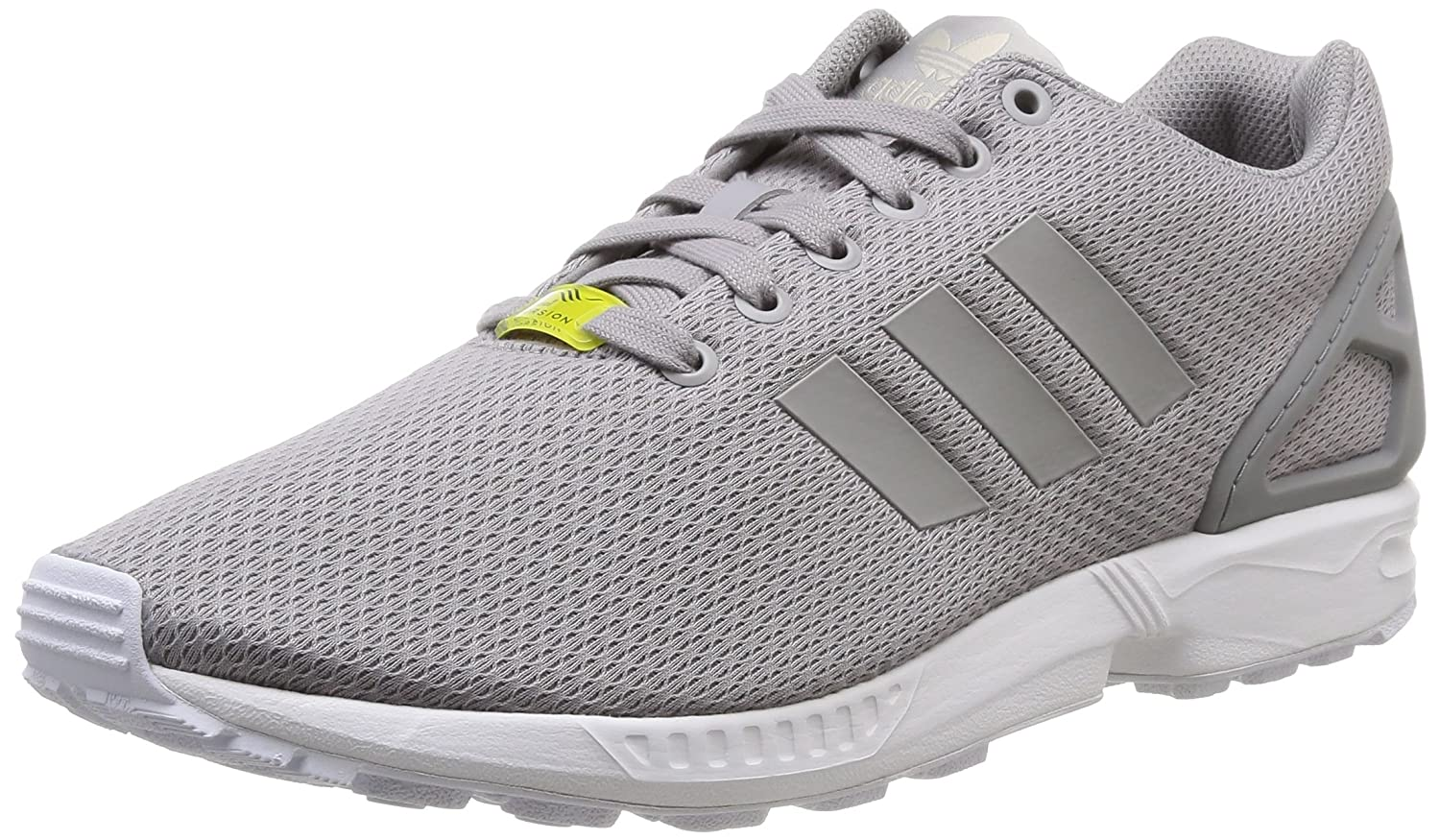 Adidas ZX Flux, Zapatillas Unisex Adulto 48 EU|Multicolor (Plata / Blanco)