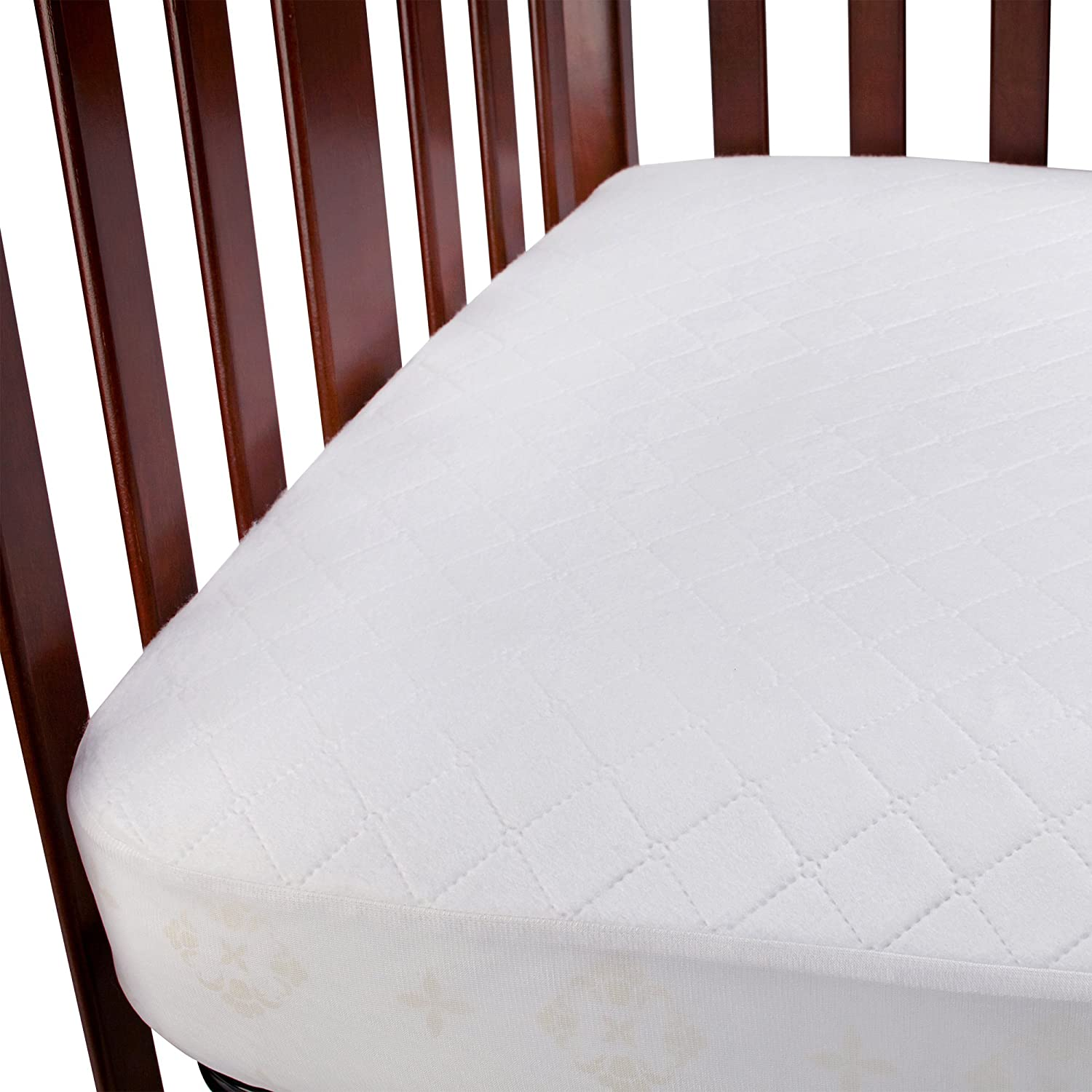 Amazon.com: Carters 2-Pack Waterproof Fitted Crib Mattress Pad, White: Baby