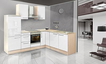 respekta Premium L ángulo de Forma de Cocina Acacia Blanco ...