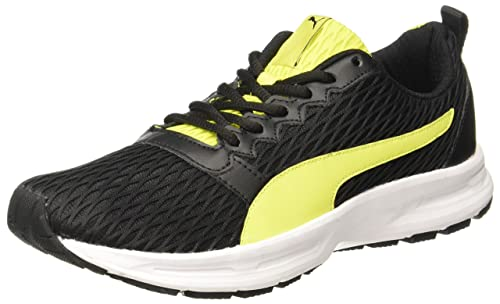 83f25cf492b3 Puma Men s Fabian Blacknrgy Yellowwhite Running Shoes - 10 UK India (44.5  EU)