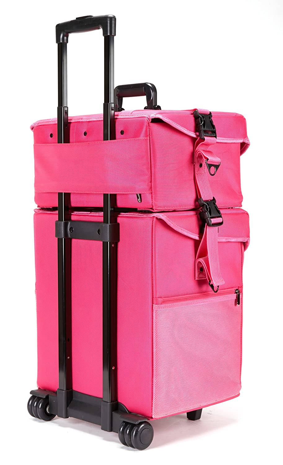 Suitcase With Drawers Amazoncom Seya 2 In 1 Professional Makeup Artist Rolling Makeup