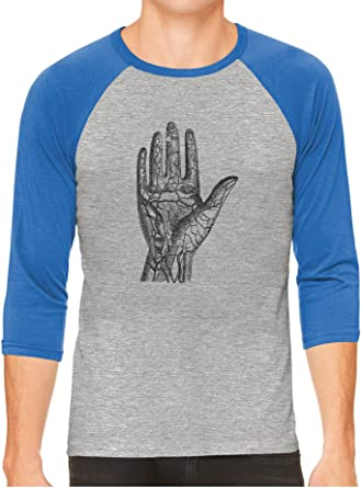 diagram of grey\'s anatomy old anatomy hand diagram gray unisex 3 4 sleeve baseball tee  old anatomy hand diagram gray unisex 3