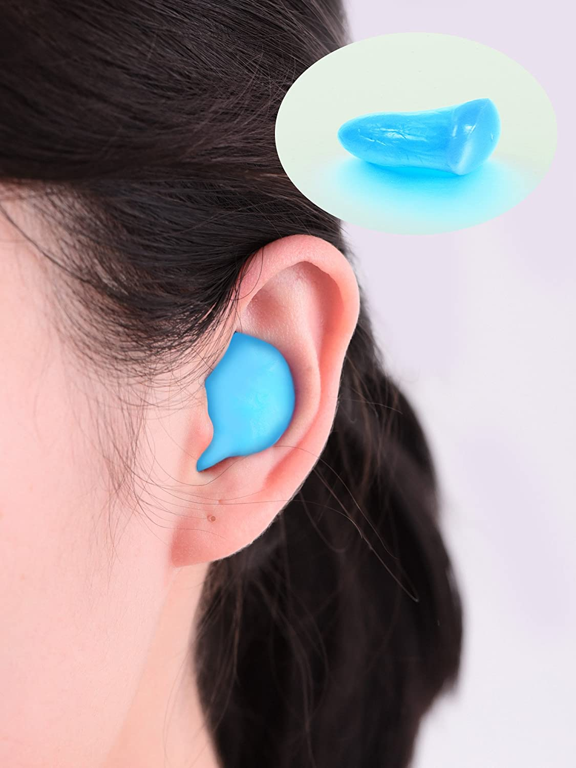 18 Pairs Silicone Putty Ear Plugs Soft Protective Earplugs for Sleeping Swimming Orange