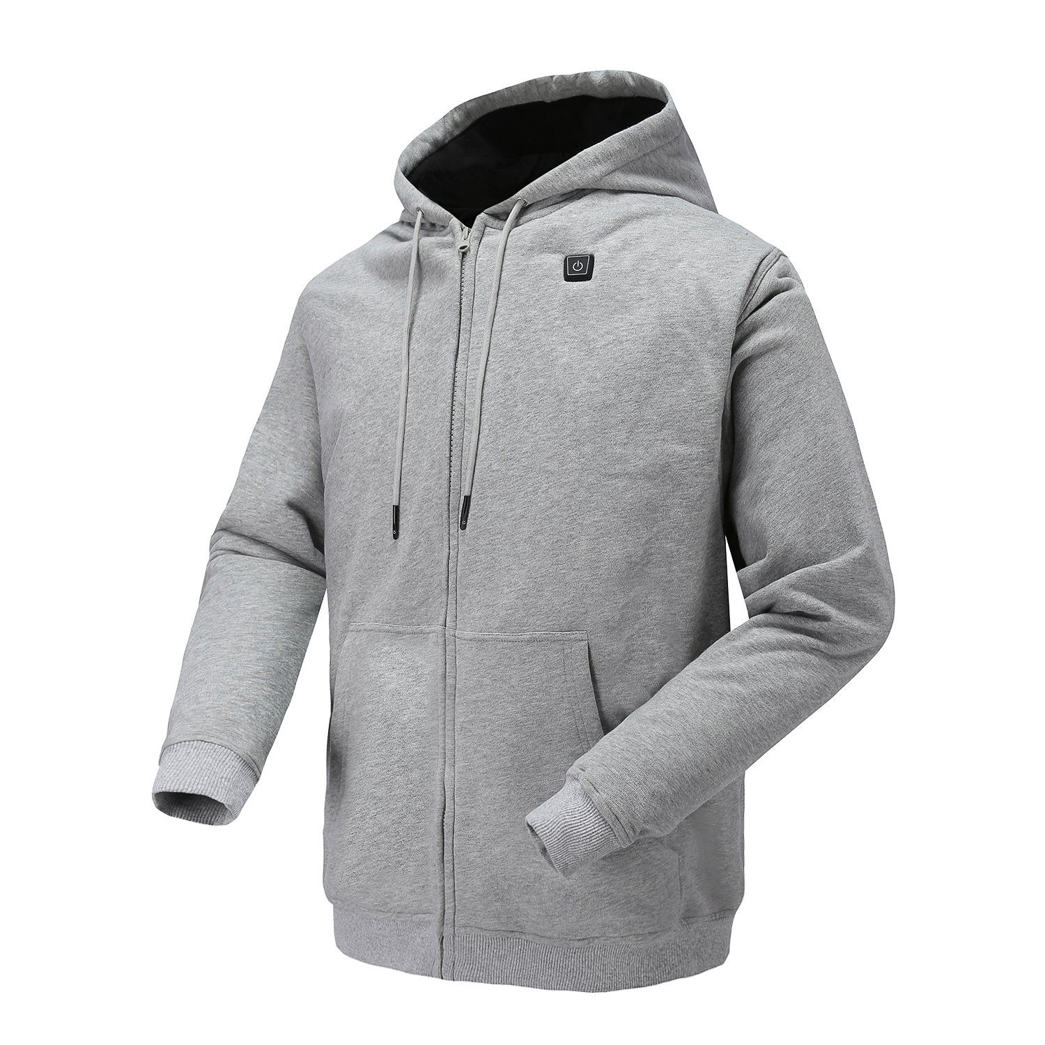 Colcham Heated Hoodie,Outdoor Work Heated Jacket Kit With Battery and Charger 7.4 V(Gray-S)