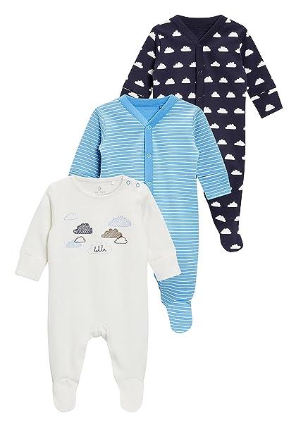 next Bebé-Niños Pack De Tres Pijamas Tipo Pelele con Nube (0 Meses - 2 Años) Crudo 1.5-2 Years: Amazon.es: Ropa y accesorios