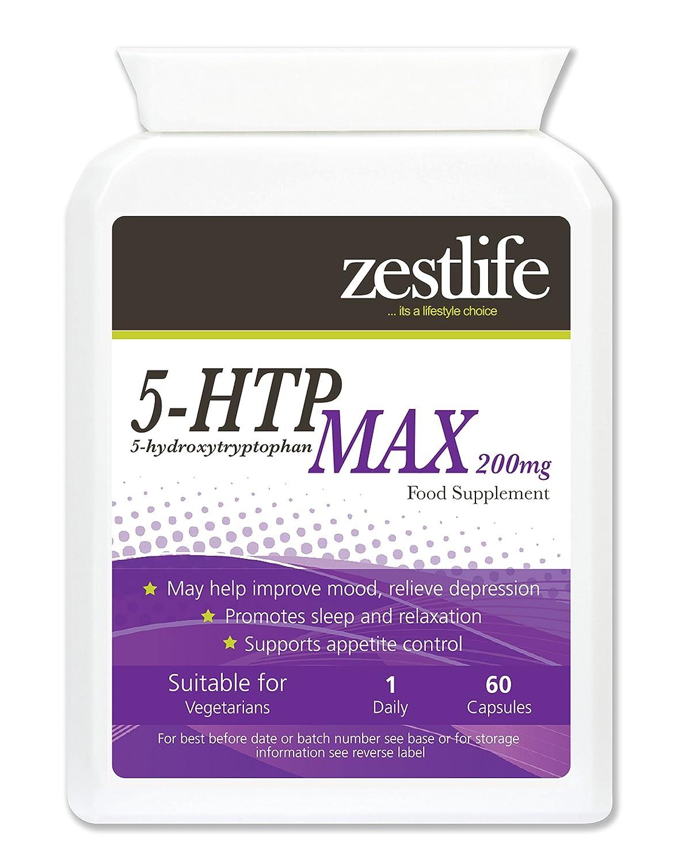 Zestlife 5-HTP 200mg * Doble Fuerza * Oferta Especial * 60 cápsulas ...