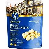 AZNUT Roasted Hazelnuts Natural Non-GMO, Premium Quality, Gluten-free, Kosher Resealable Bag Snack&Joy sweet crunchy taste, Healthy Snack (16 oz)
