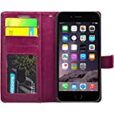 Foso(TM)For Iphone 6 / 6S High Quality Pu Leather Magnetic Flip Cover Case (Hot Pink)