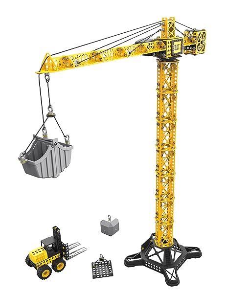 amazon com toy state caterpillar cat apprentice tower crane with