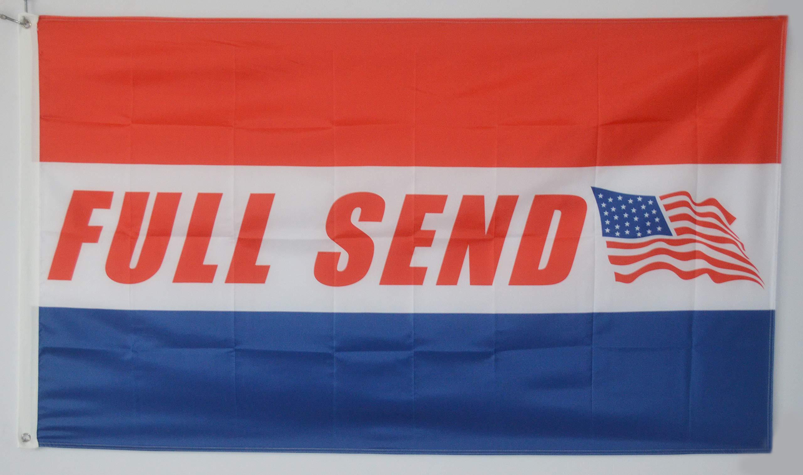 Annfly Full Send Banner Flag 3x5 Feet Nelk Nelkboys US banner