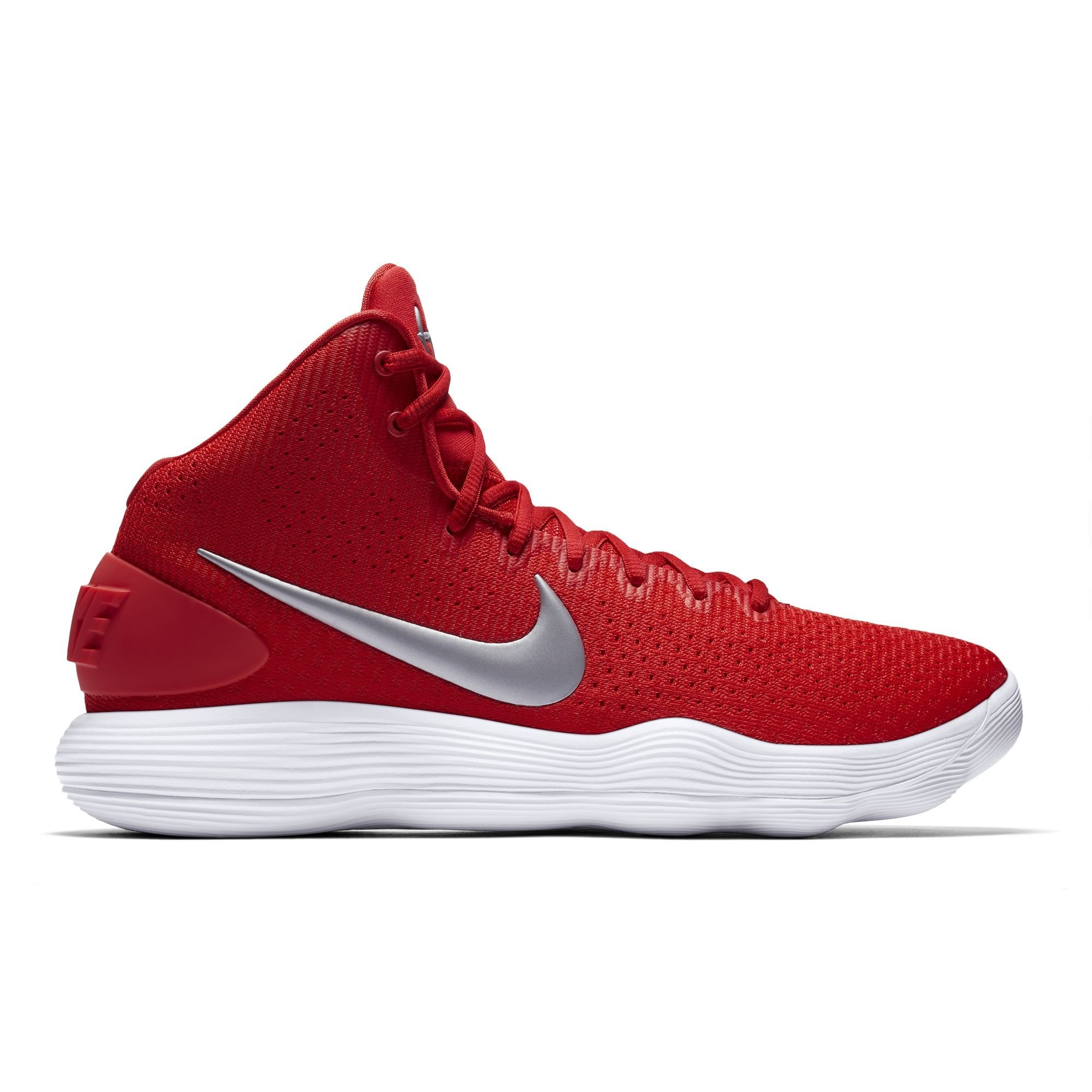 NIKE Men's Hyperdunk 2017 TB Basketball Shoe University Red/Metallic Silver/White Size 8 M US