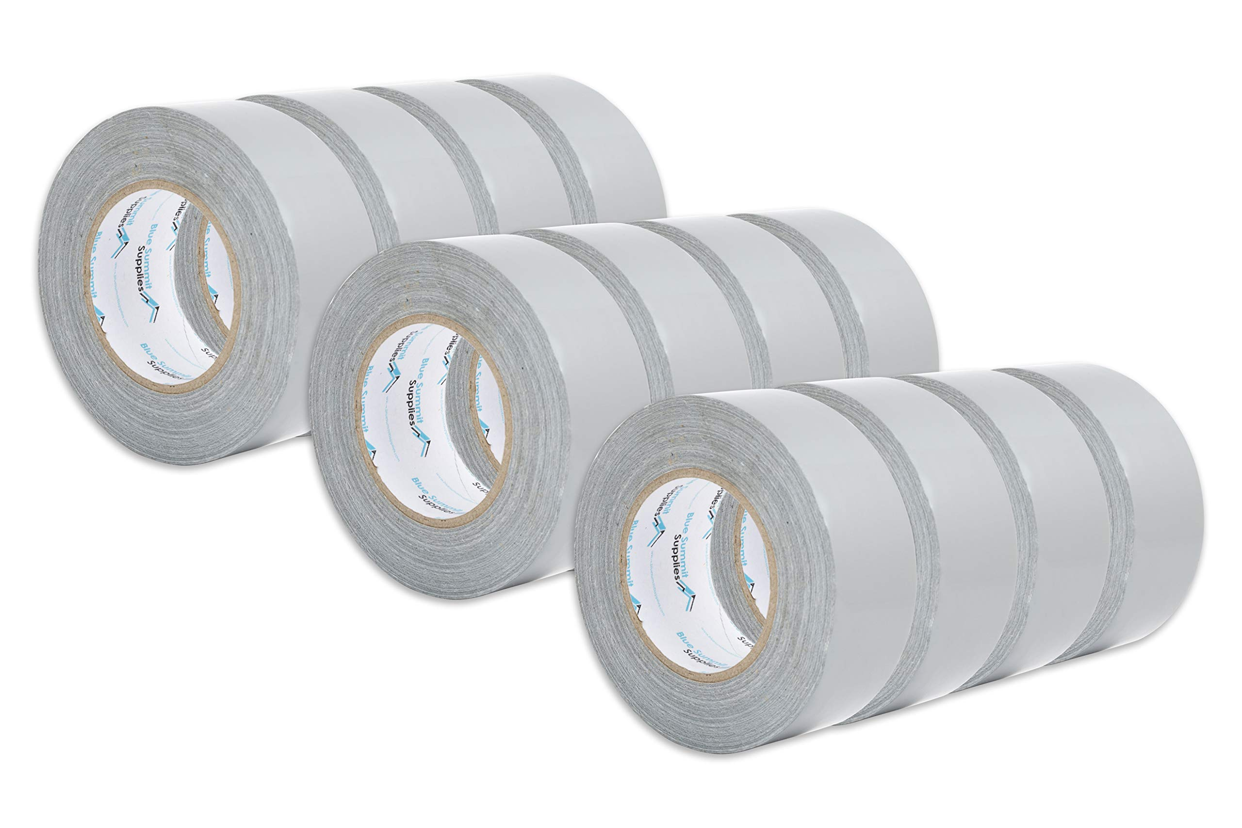 12 Pack Duct Tape, Tear by Hand Design, Silver, Strong 7.3mil Thickness, Designed for Home and Office use with Commercial Grade Strength, 60 Yard Length, 720 Total Yards