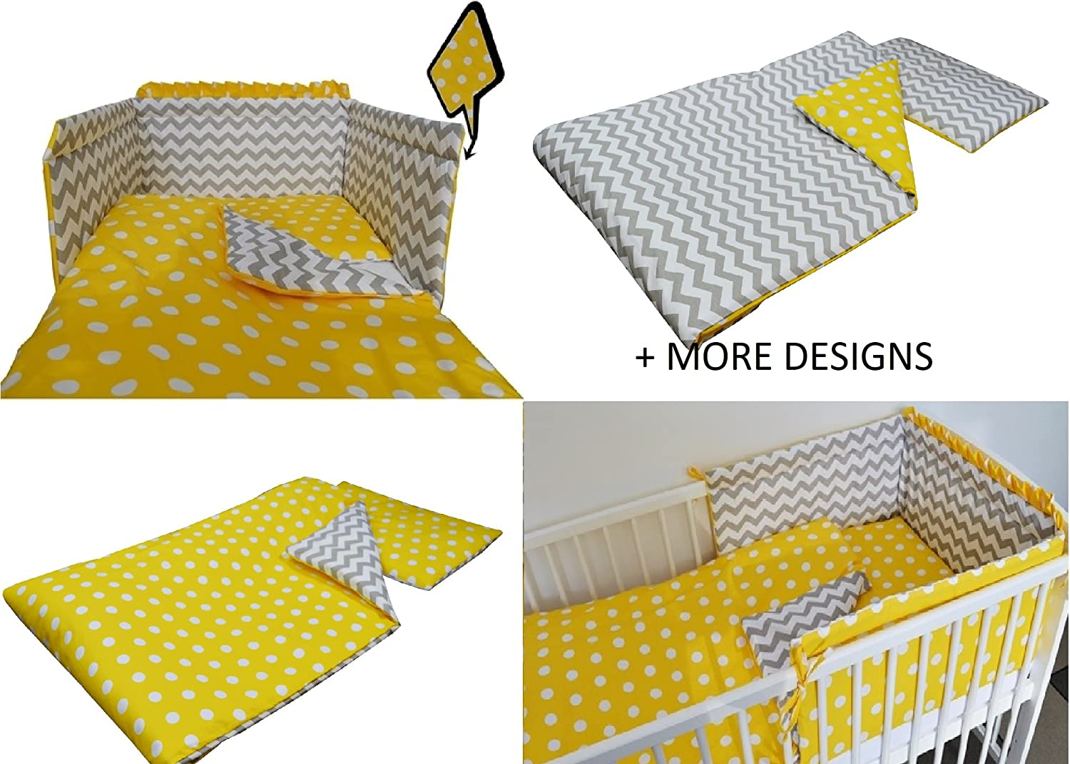 3 pc Baby Bedding Set for COT 120X60 OR COT Bed 140X70 Stars-Elephant- COT Bed Size 140X70, Printed Cable-Knit Wool Effect Design