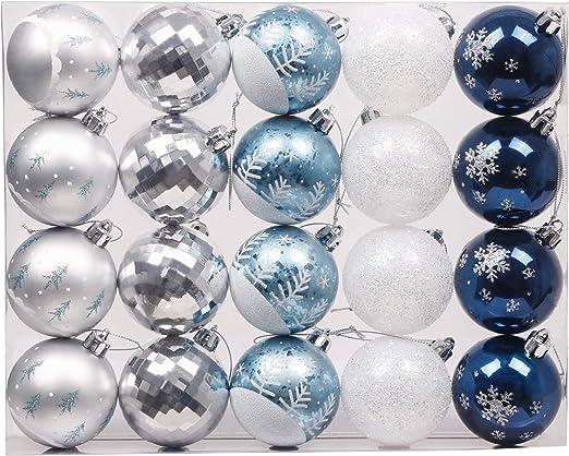 Blau Grün Silber Valery Madelyn Weihnachtskugeln 49 Stücke 3CM Kunststoff