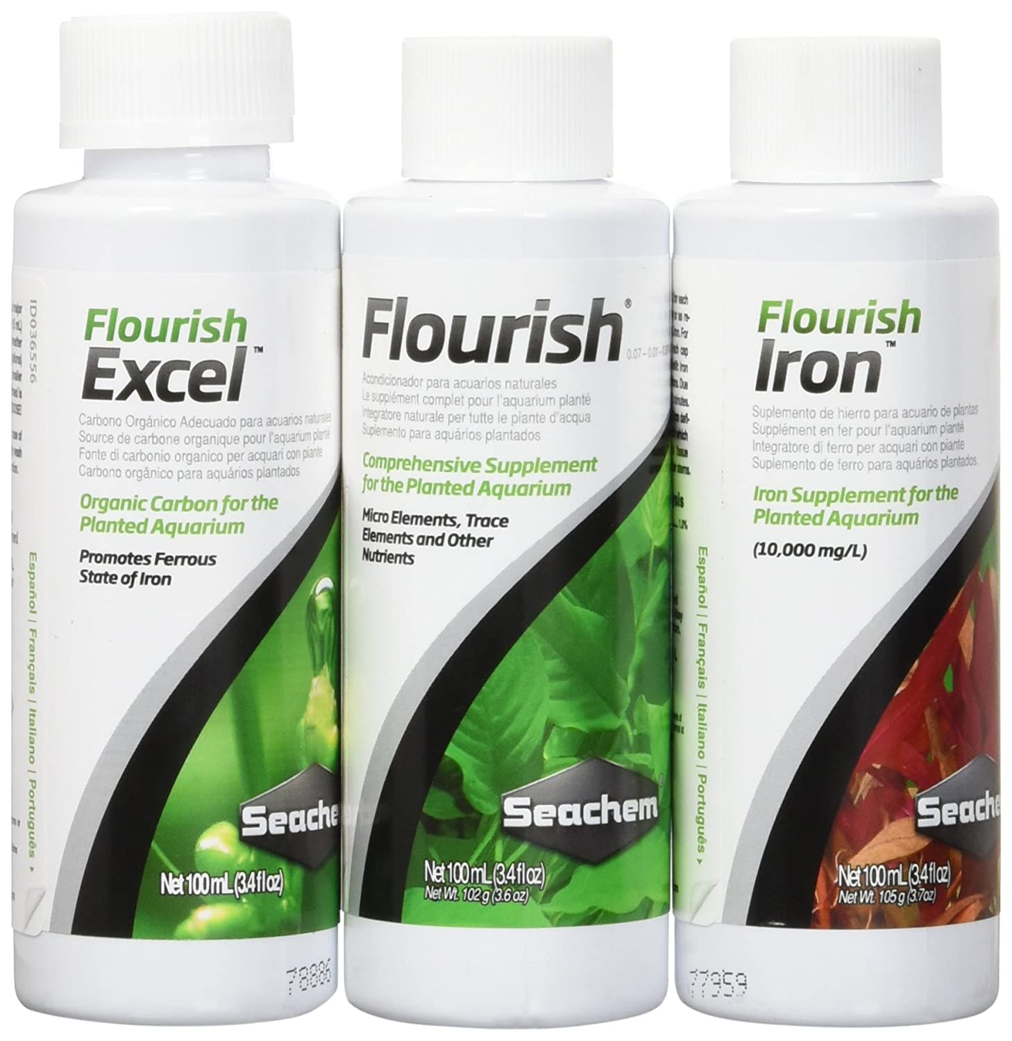 Amazon.com : Seachem Plant Pack Fundamentals (Box of 3 different 100ml Items) 2Pack : Garden & Outdoor