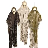 3ft Halloween Monster Prisoner Ghost Skeleton Chains Hanging Party Decoration