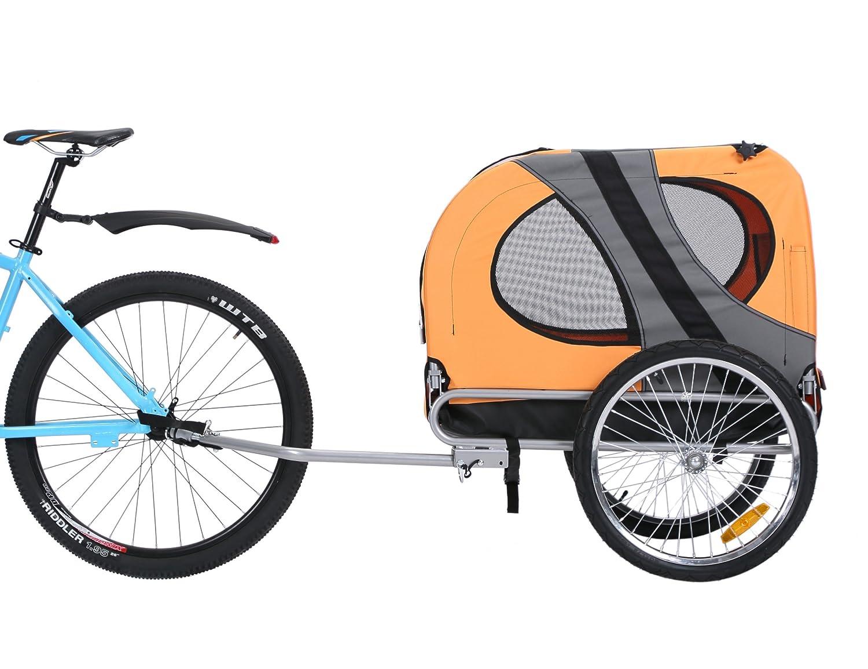 Leonpets Pet Bike Trailer Dog Volkswagen Transporter with Universal Couplings orange New 10117