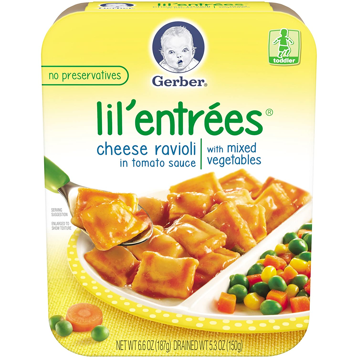 Gerber Graduates Cheese Ravioli in Tomato Sauce with Mixed Vegetables, 6.6-Ounce (Pack of 8) Ger-1191