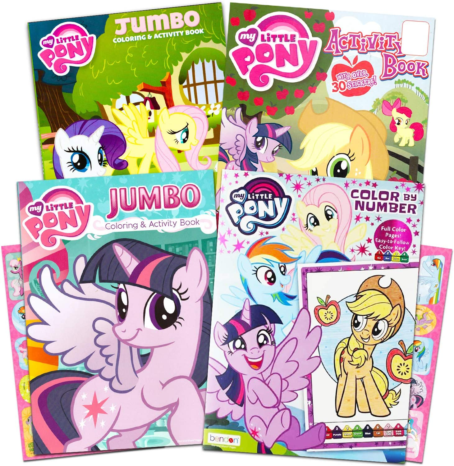 - Amazon.com: My Little Pony Coloring Book Super Set With Stickers