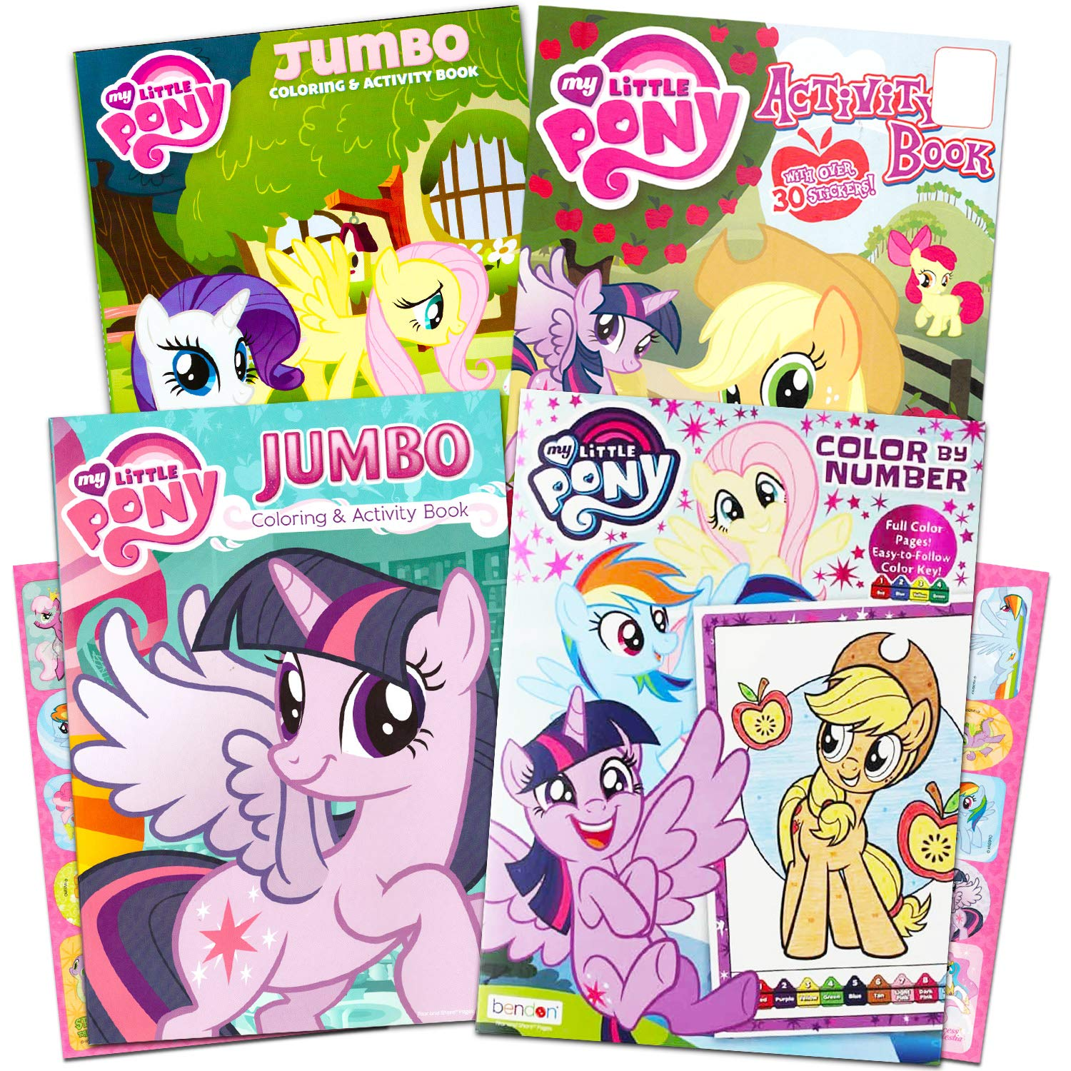 Buy My Little Pony Coloring Book Super Set With Stickers 3 Jumbo