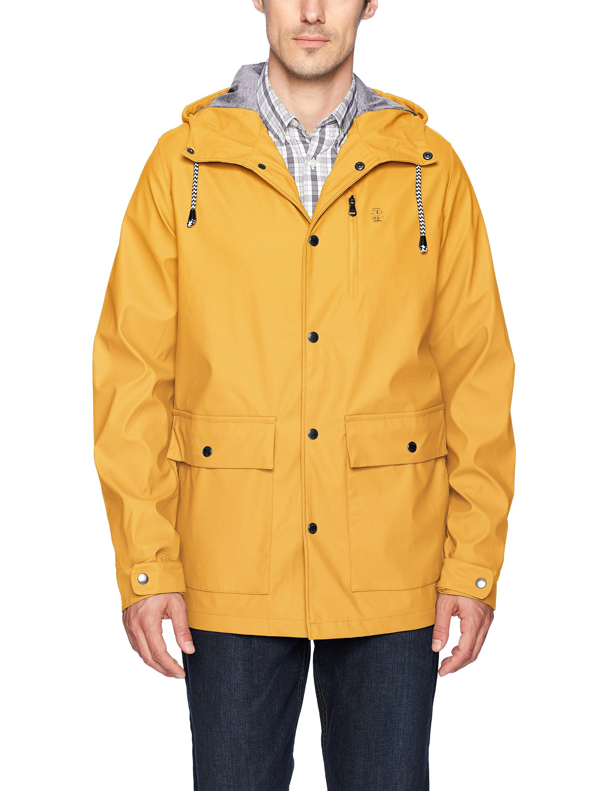 IZOD Men's True Slicker Rain Jacket, Yellow, L by IZOD