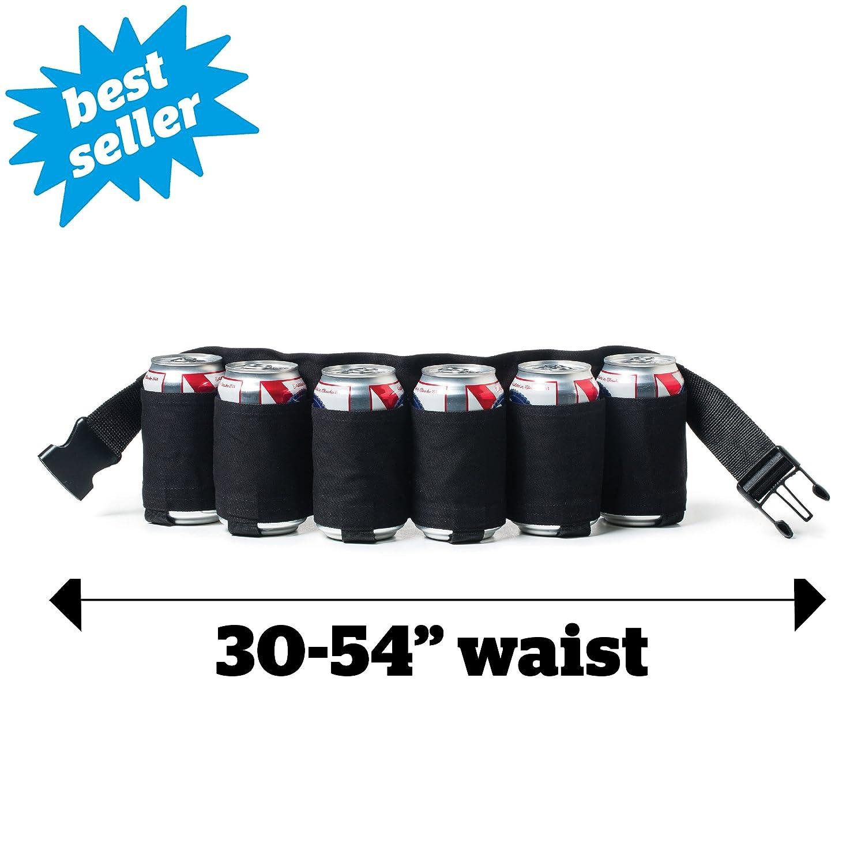 6 Pack Holster Black BigMouth Inc Beer Belt