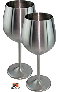 magjo stainless steel wine glasses highest quality stainless steel 2