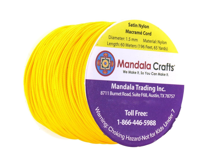 Beading Rattail Trim Thread for Chinese Knotting 1mm, 109 Yards, Brown Mandala Crafts Nylon Satin Cord Jewelry Making Macram/é Kumihimo Sewing