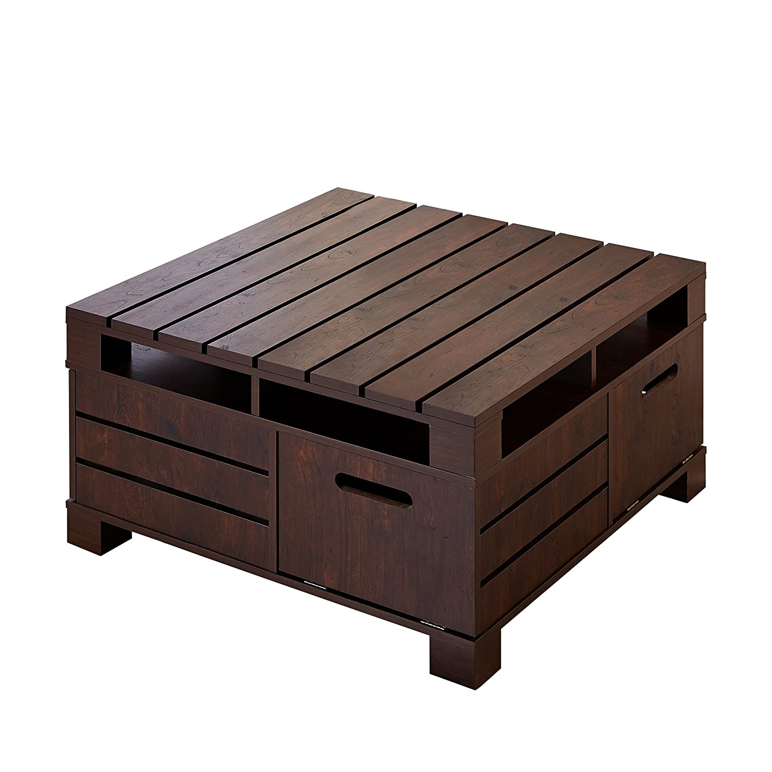 Amazon iohomes feltria coffee table with storage vintage amazon iohomes feltria coffee table with storage vintage walnut kitchen dining geotapseo Images