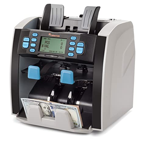CARNATION Mixed Denomination Bill Money Value Counter and Sorter CR1500  Bank Grade Currency Sorting 2 Year Warranty Serial Number Recognition PC