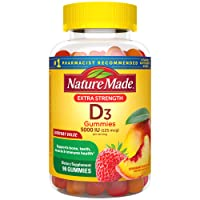 Nature Made Extra Strength Vitamin D3 125 mcg (5000 IU) Gummies, 90 Count for Bone Health