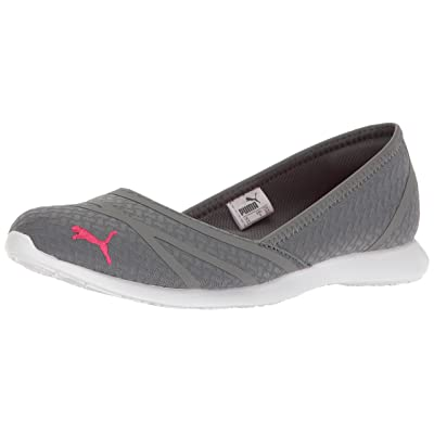 PUMA Women's Vega Ballet Flume Walking Shoe, Quiet Shade-Sparklin, 8 M US | Walking