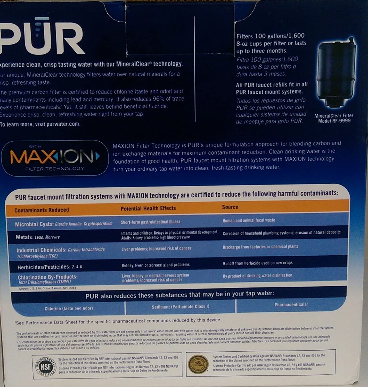PUR FM-9000B Faucet Mount Water Filter - Stainless Steel Style ...