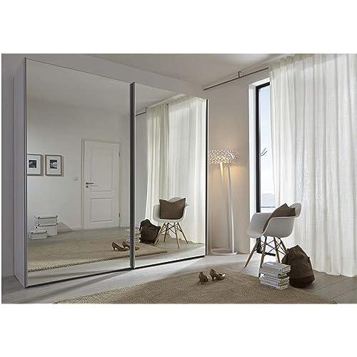 Bedroom Cupboards With Mirror Sliding Doors Bedroom Athletics Review Bedroom Furniture Arrangement Ideas 3 Bedroom Apartment Plan 3d: Wardrobe Mirror: Amazon.co.uk