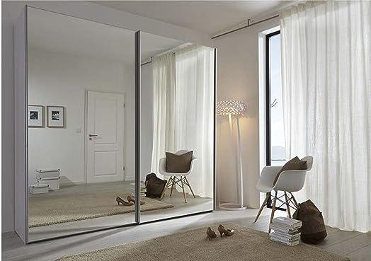 Schlafzimmer Komet White: Mirror Sliding Door Wardrobe - 236cm ...