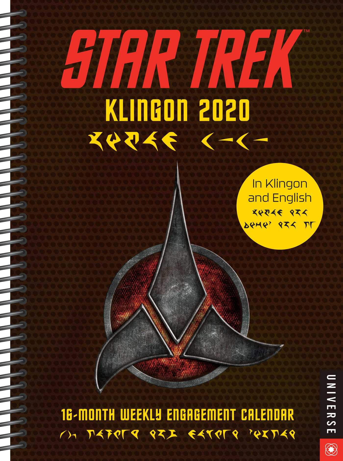 Star Trek Klingon 2020 Calendar: 16-Month Weekly Engagement Calendar by Universe Publishing
