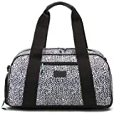 """Vooray Burner Gym Duffel, Small Gym Bag with Shoe Pocket, 16"""" Compact Duffel Bag (Leopard)"""