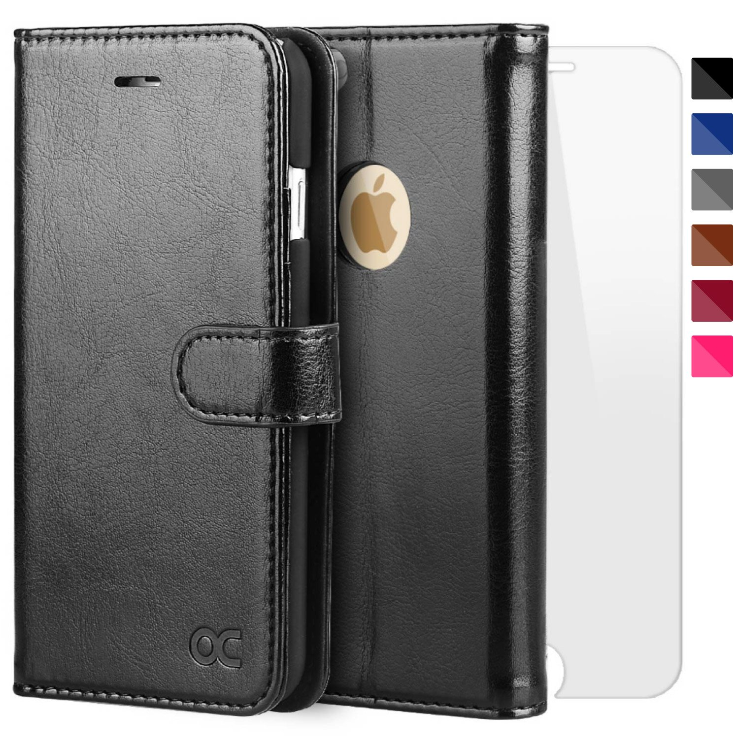 OCASE iPhone 6S Case [Free Screen Protector Included] Leather Wallet Flip Case for iPhone 6 / 6S Devices 4.7 Inch - Blue iPhone 6 / 6S wallet case