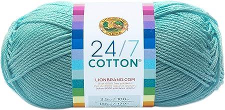 Lion Brand Yarn Company Hilo de algodón, 100% algodón, Aqua: Amazon.es: Hogar