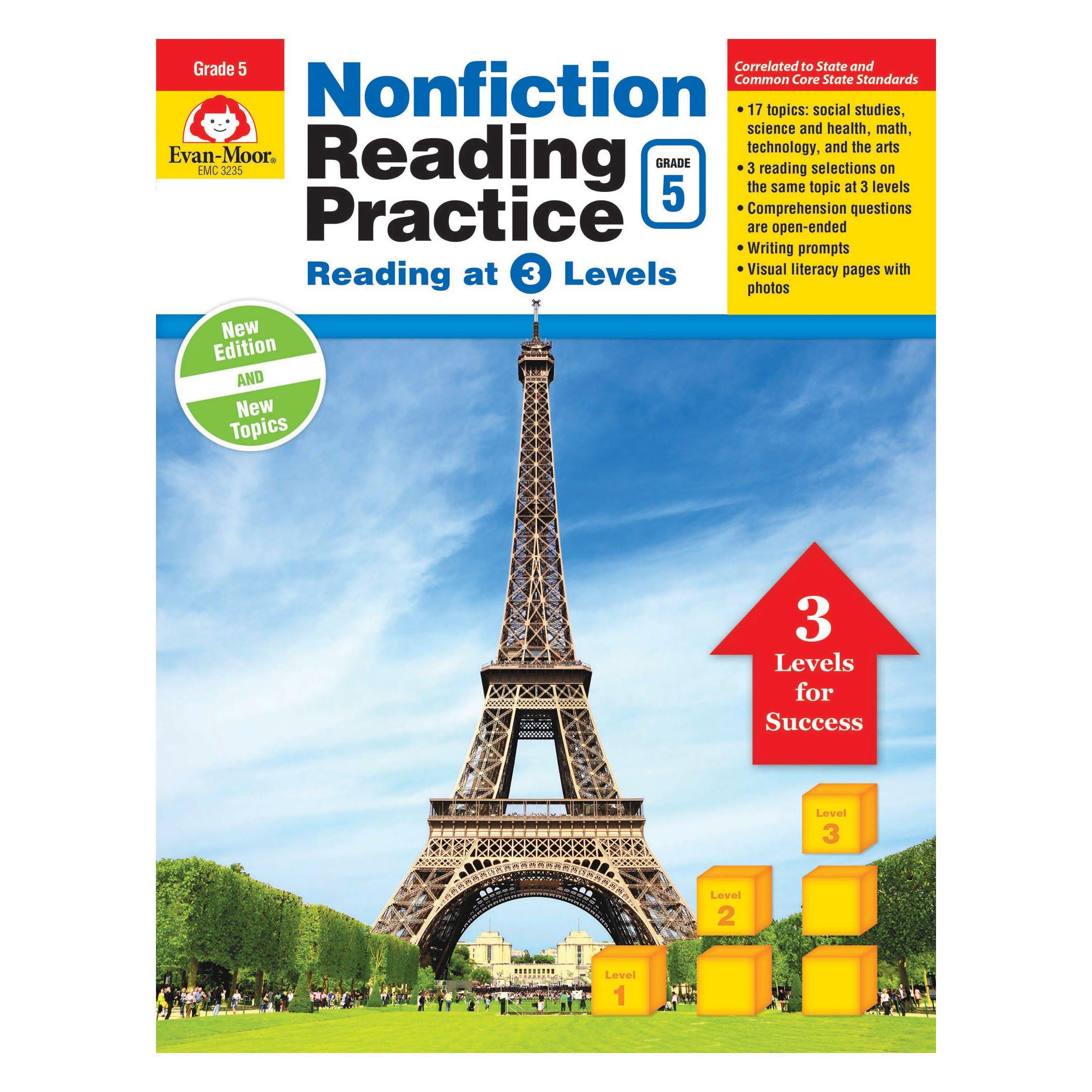 Download Nonfiction Reading Practice, Grade 5 pdf