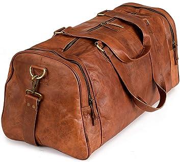 c388dbc9c2cb0 Weekender Berliner Bags Bergen XL Reisetasche aus Leder Qualität Vintage  Design Damen Herren Braun Groß 60