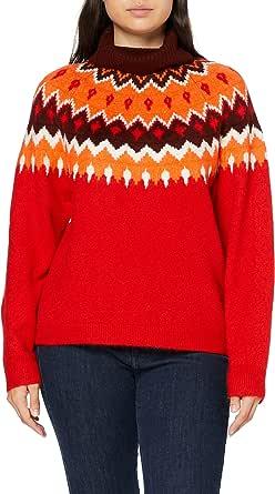 Marca Amazon - find. Statement Fairisle Jumper Suéter Mujer