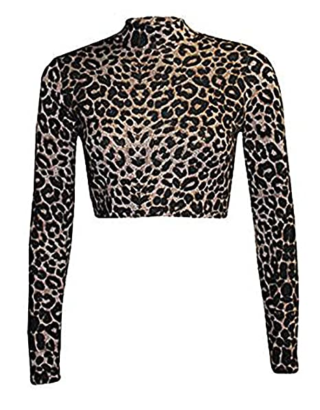 Zara Fashion - Polo - para mujer multicolor Leopard Brown Medium / Large