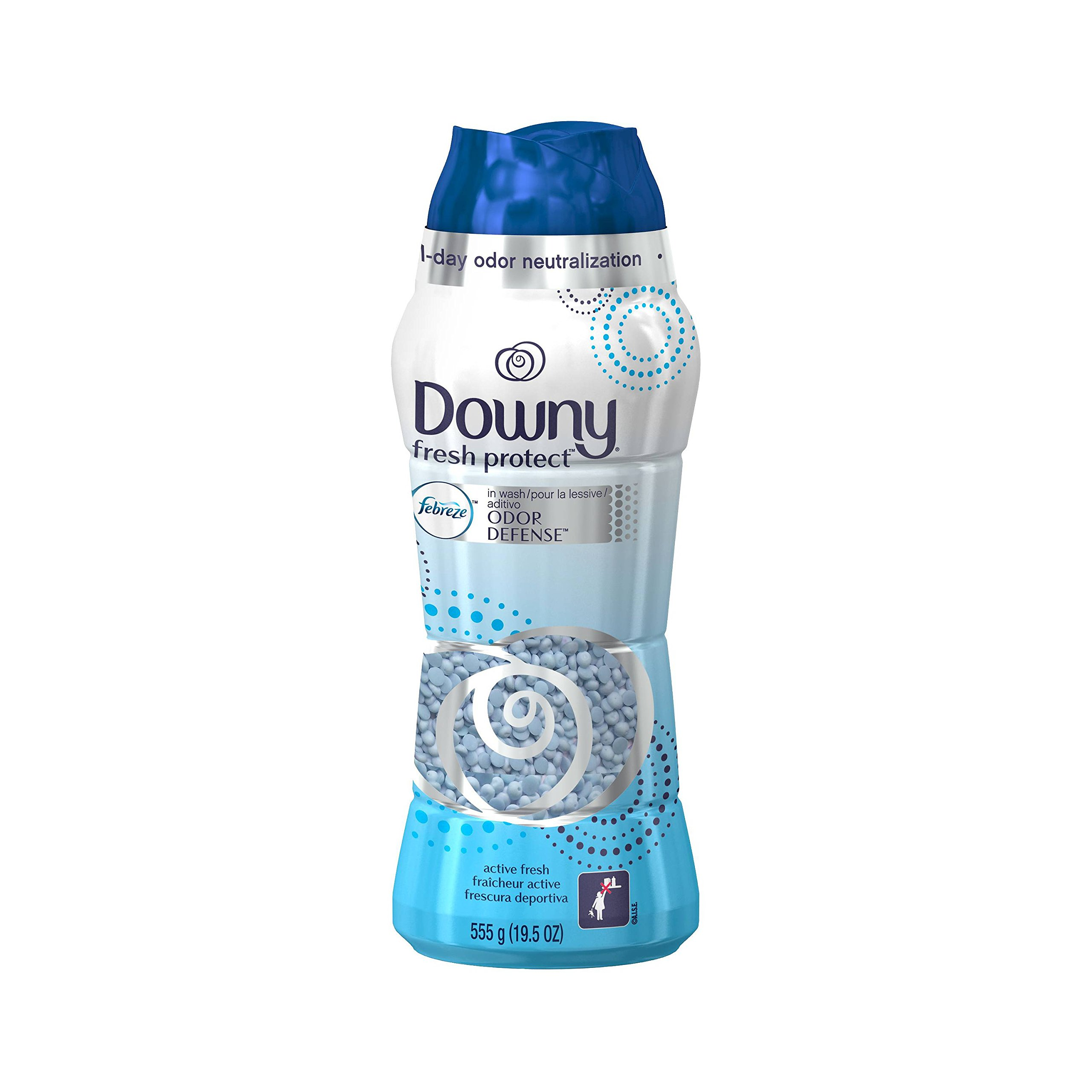 Downy Fresh Protect In-Wash Odor Shield Laundry Beads - Active Fresh Scent - 19.5 oz (pack of 1) by Laundry Beads