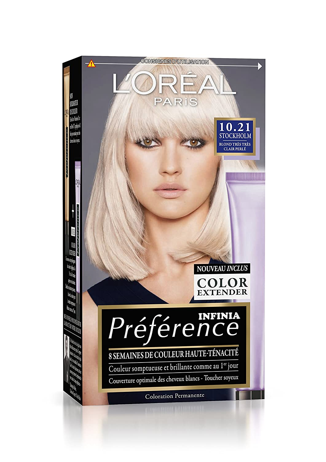 prfrence loral paris coloration permanente 1021 blond trs trs clair perl amazonfr hygine et soins du corps - Coloration Blond Clair Beige