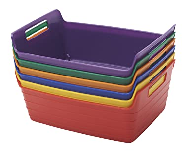 Perfect ECR4Kids ELR 20516 AS Assorted Small Bendi Bins With Handles, Stackable  Plastic