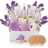 Spa Gift Baskets for Women Lavender Bath and Body At Home Spa Kit Mothers Day Spa Gifts Ideas - Luxury 15pcs with Bath…