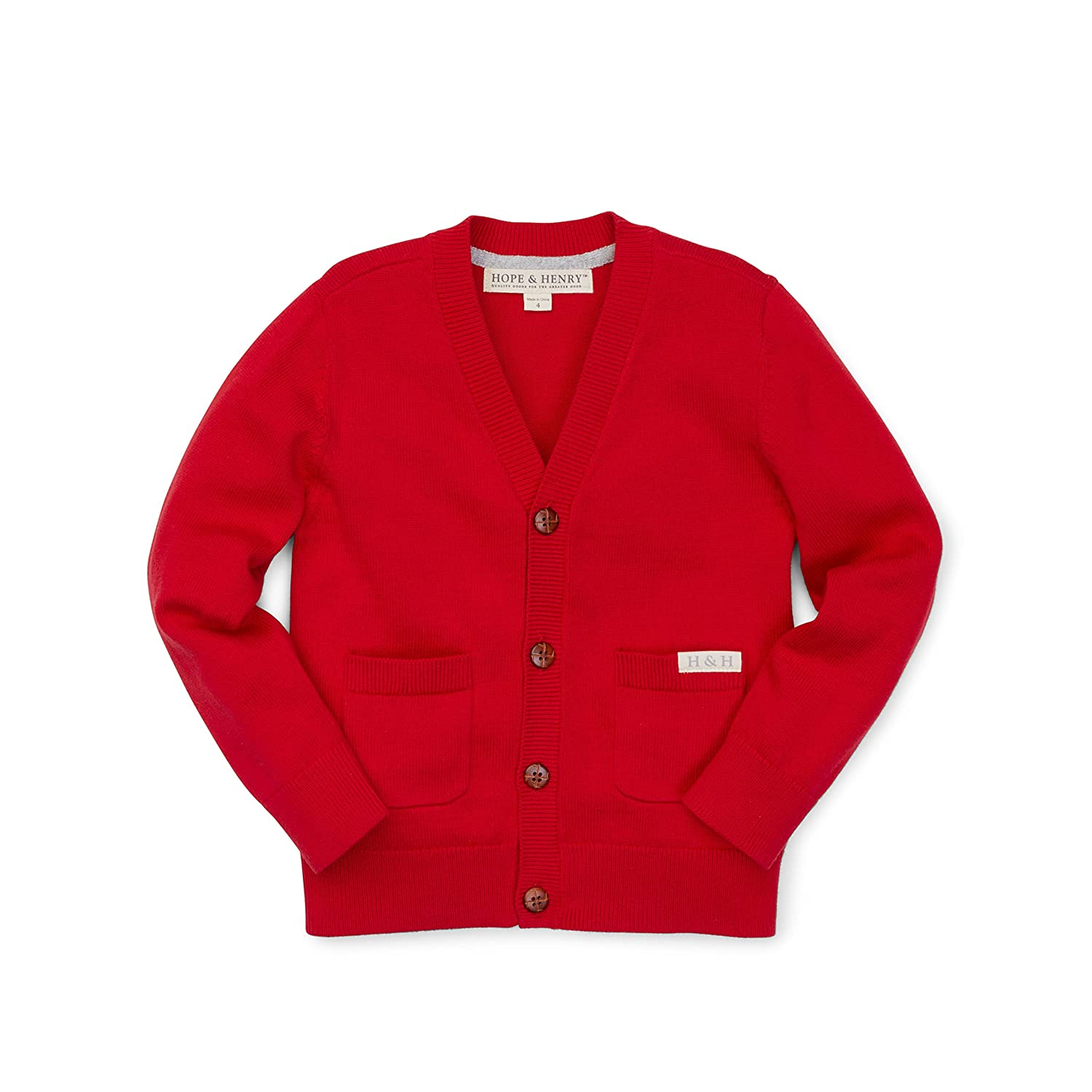 Amazon.com: Hope & Henry Boys' Red Sweater Cardigan Made with ...