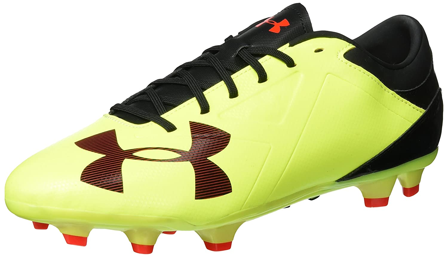 Under Armour Men's Spotlight DL FG Soccer Cleat B01IAIAZJE 11.5 D(M) US|High-vis Yellow/Rocket Red/Black