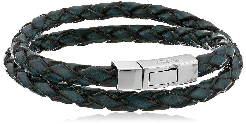 Tateossian Men's Scoubidou Leather Double-Wrap Bracelet Tateossian Jewelry BR-3819